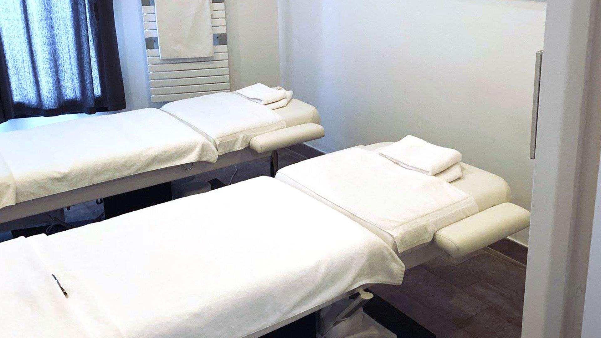 Cabine de massage simple ou en duo, hôtel spa la grande motte, Hôtel La Plage.